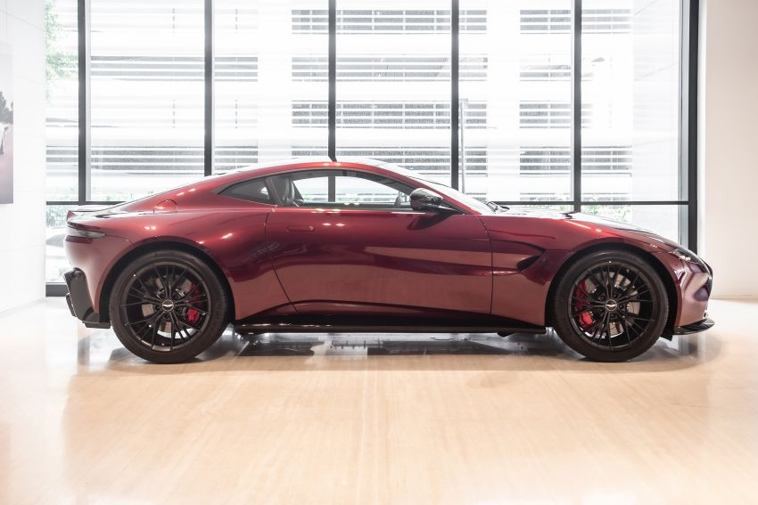 Aston Martin Vantage 'Liquid Crimson' in Malaysia – first unit here with the 70th anniversary 'vaned' grille Image #1339795