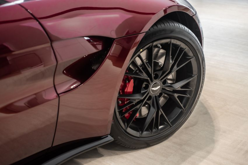 Aston Martin Vantage 'Liquid Crimson' in Malaysia – first unit here with the 70th anniversary 'vaned' grille Image #1339796