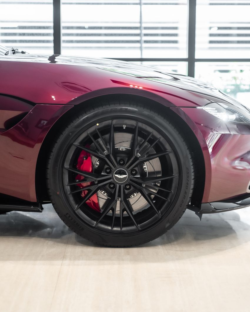 Aston Martin Vantage 'Liquid Crimson' in Malaysia – first unit here with the 70th anniversary 'vaned' grille Image #1339797