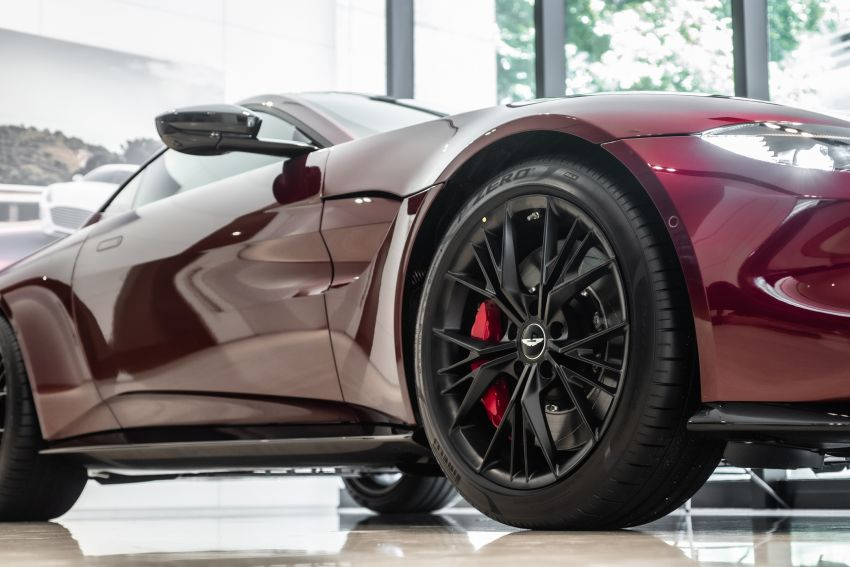 Aston Martin Vantage 'Liquid Crimson' in Malaysia – first unit here with the 70th anniversary 'vaned' grille Image #1339798