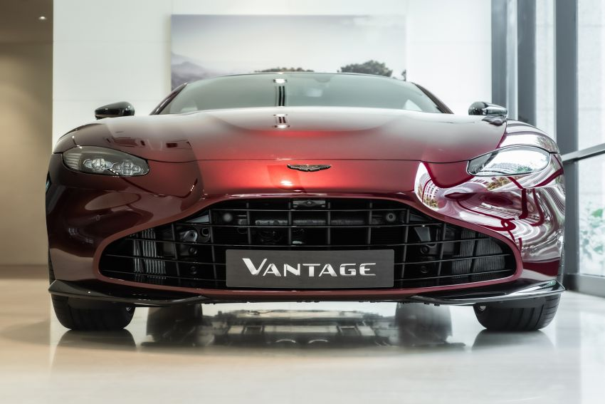 Aston Martin Vantage 'Liquid Crimson' in Malaysia – first unit here with the 70th anniversary 'vaned' grille Image #1339803