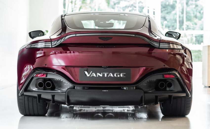 Aston Martin Vantage 'Liquid Crimson' in Malaysia – first unit here with the 70th anniversary 'vaned' grille Image #1339783