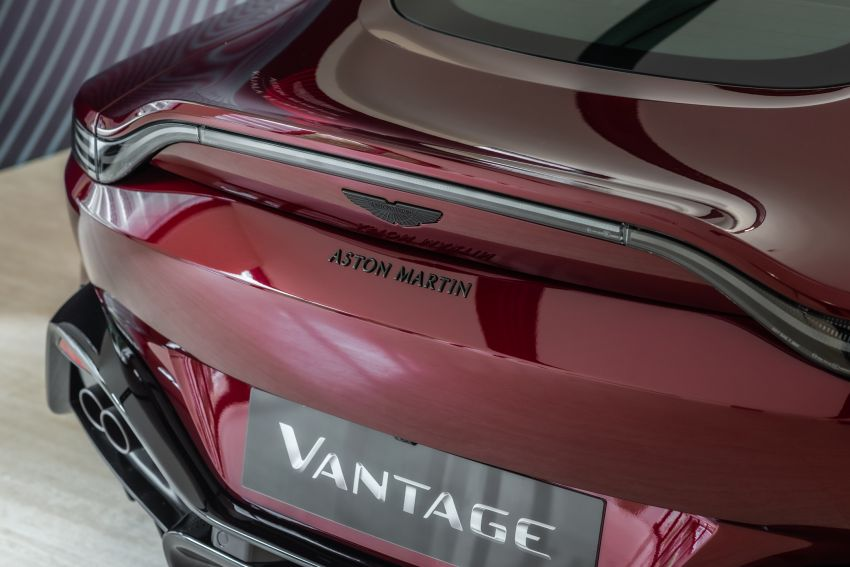 Aston Martin Vantage 'Liquid Crimson' in Malaysia – first unit here with the 70th anniversary 'vaned' grille Image #1339784