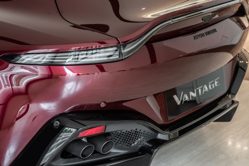 Aston Martin Vantage 'Liquid Crimson' in Malaysia – first unit here with the 70th anniversary 'vaned' grille Image #1339786