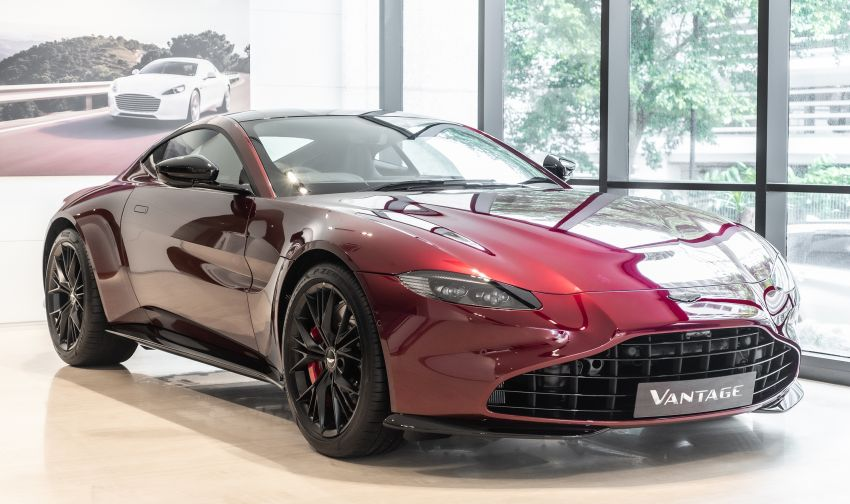 Aston Martin Vantage 'Liquid Crimson' in Malaysia – first unit here with the 70th anniversary 'vaned' grille Image #1339788