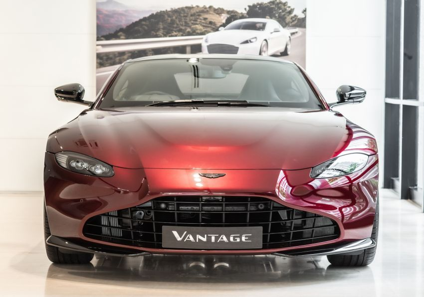 Aston Martin Vantage 'Liquid Crimson' in Malaysia – first unit here with the 70th anniversary 'vaned' grille Image #1339790