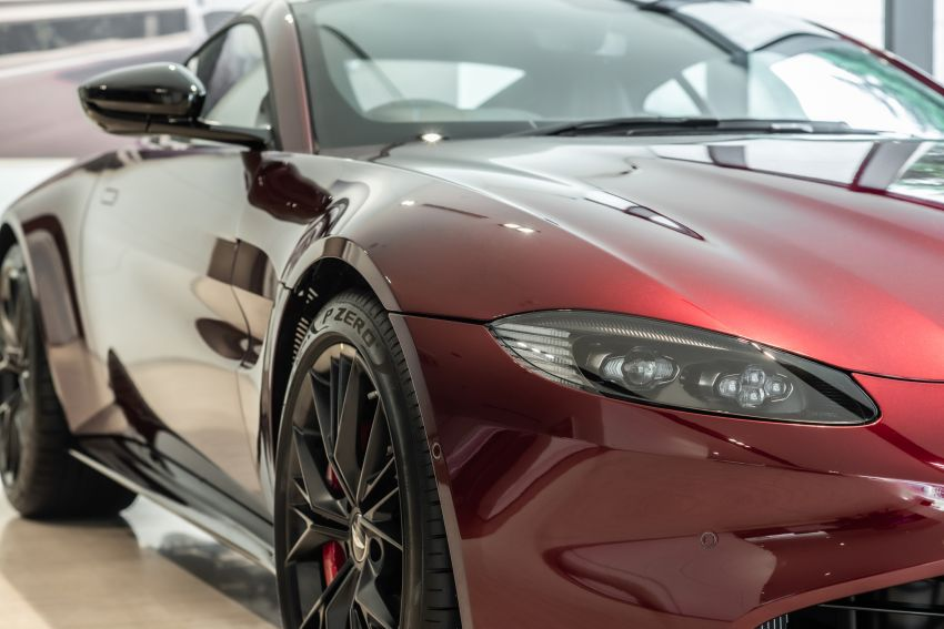 Aston Martin Vantage 'Liquid Crimson' in Malaysia – first unit here with the 70th anniversary 'vaned' grille Image #1339791