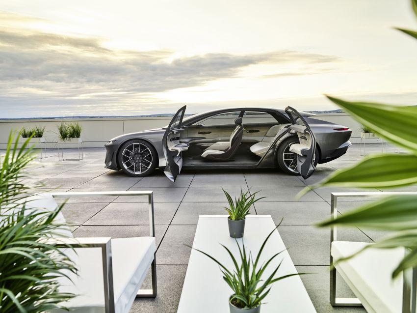 Audi grandsphere concept revealed, previews electric A8 replacement – PPE platform, 720 PS, 750 km range Image #1341074