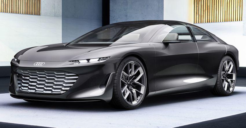 Audi grandsphere concept revealed, previews electric A8 replacement – PPE platform, 720 PS, 750 km range Image #1341081