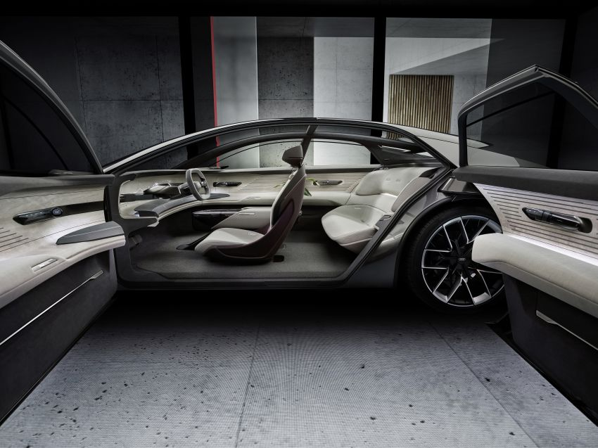 Audi grandsphere concept revealed, previews electric A8 replacement – PPE platform, 720 PS, 750 km range Image #1341089