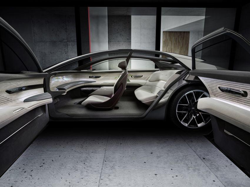 Audi grandsphere concept revealed, previews electric A8 replacement – PPE platform, 720 PS, 750 km range Image #1341090