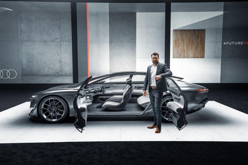 Audi grandsphere concept revealed, previews electric A8 replacement – PPE platform, 720 PS, 750 km range Image #1341100