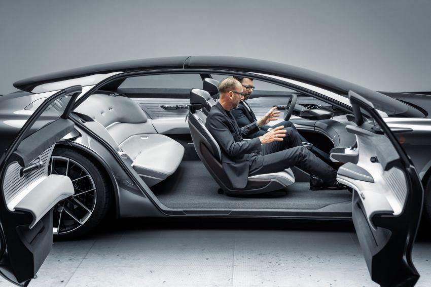 Audi grandsphere concept revealed, previews electric A8 replacement – PPE platform, 720 PS, 750 km range Image #1341101