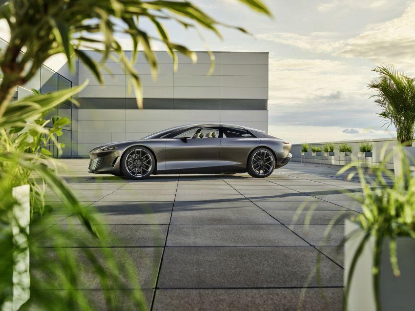 Audi grandsphere concept revealed, previews electric A8 replacement – PPE platform, 720 PS, 750 km range Image #1341066