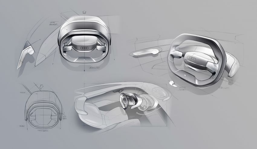 Audi grandsphere concept revealed, previews electric A8 replacement – PPE platform, 720 PS, 750 km range Image #1341131
