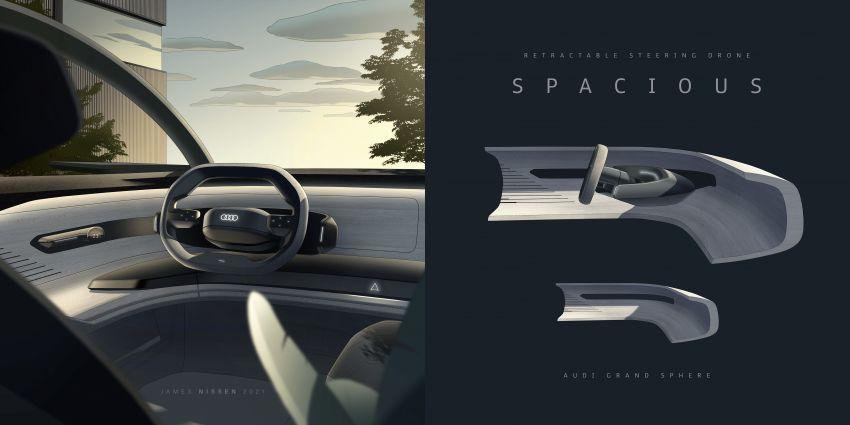 Audi grandsphere concept revealed, previews electric A8 replacement – PPE platform, 720 PS, 750 km range Image #1341138