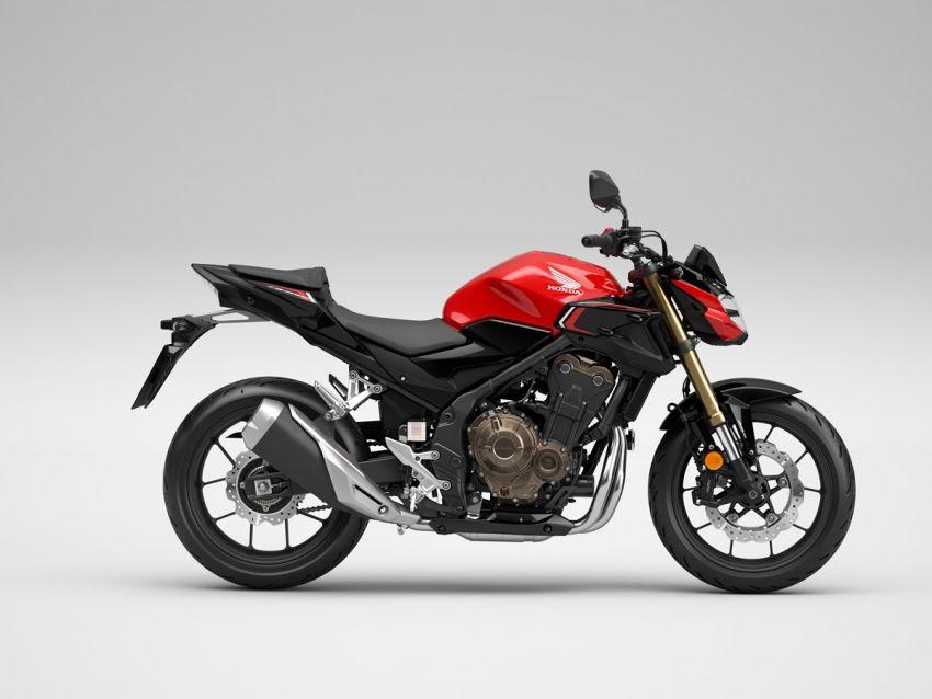 Honda CB500R, CB500F dan CB500X diperbaharui – enjin Euro 5, fork USD Showa, brek cakera berkembar Image #1340483