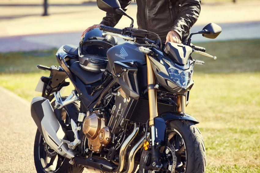 Honda CB500R, CB500F dan CB500X diperbaharui – enjin Euro 5, fork USD Showa, brek cakera berkembar Image #1340496