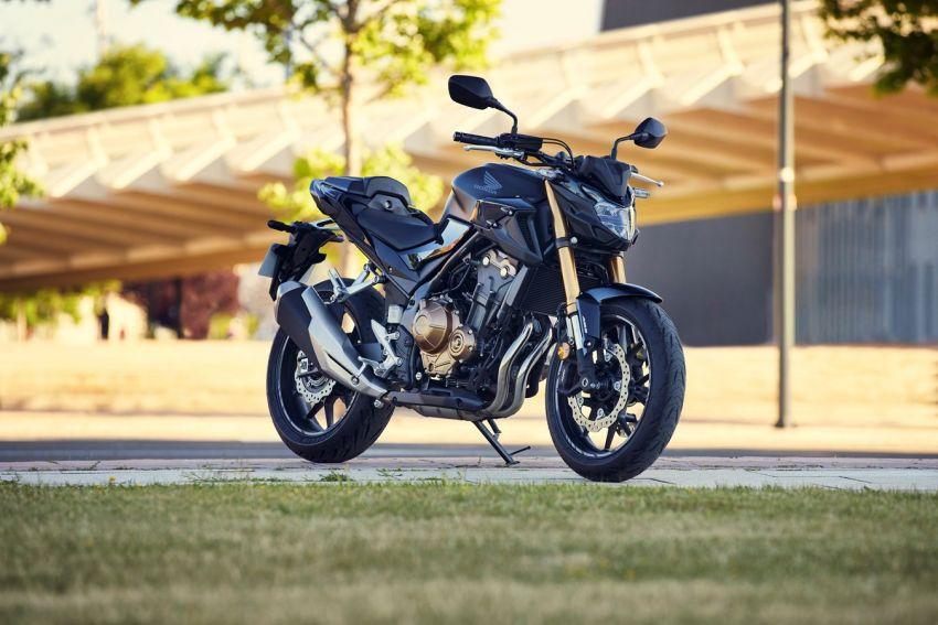 Honda CB500R, CB500F dan CB500X diperbaharui – enjin Euro 5, fork USD Showa, brek cakera berkembar Image #1340501
