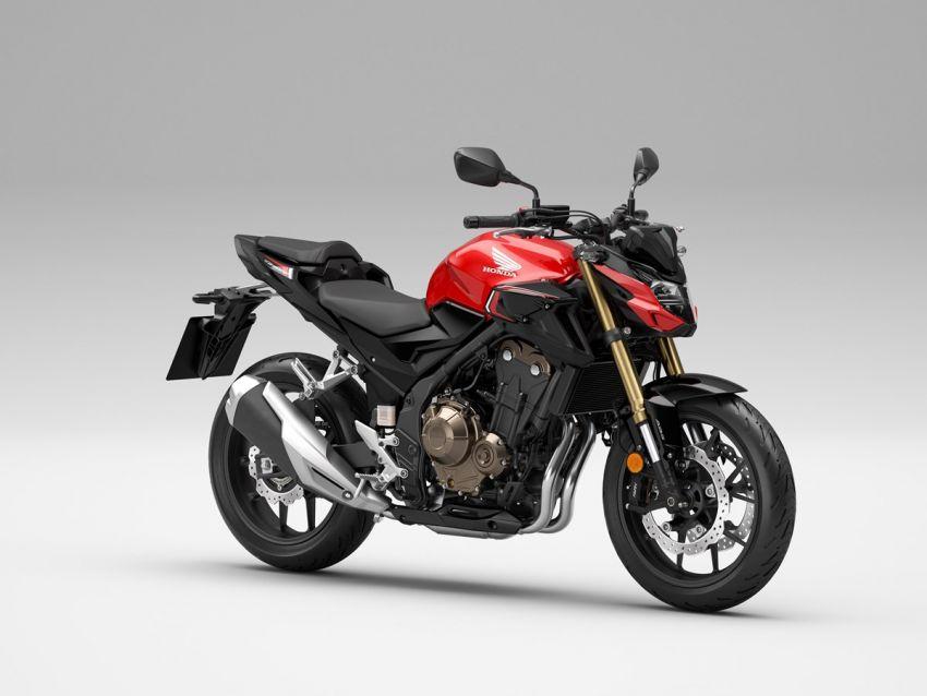 Honda CB500R, CB500F dan CB500X diperbaharui – enjin Euro 5, fork USD Showa, brek cakera berkembar Image #1340484