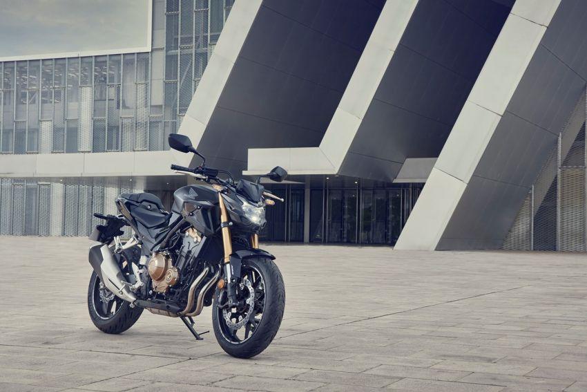 Honda CB500R, CB500F dan CB500X diperbaharui – enjin Euro 5, fork USD Showa, brek cakera berkembar Image #1340502