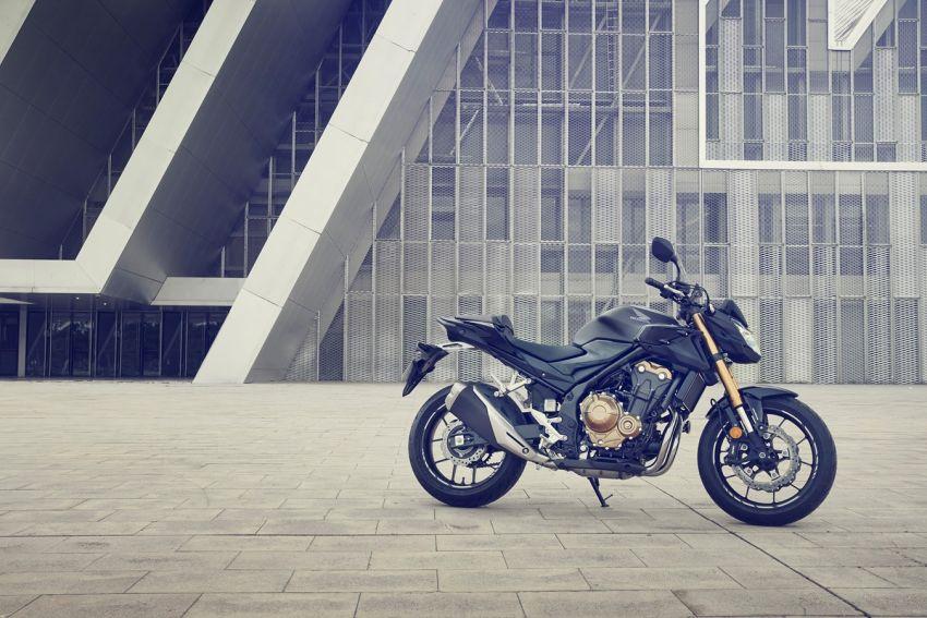 Honda CB500R, CB500F dan CB500X diperbaharui – enjin Euro 5, fork USD Showa, brek cakera berkembar Image #1340503