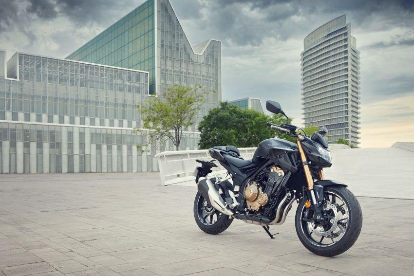 Honda CB500R, CB500F dan CB500X diperbaharui – enjin Euro 5, fork USD Showa, brek cakera berkembar Image #1340505