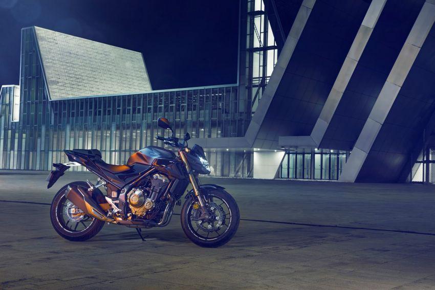 Honda CB500R, CB500F dan CB500X diperbaharui – enjin Euro 5, fork USD Showa, brek cakera berkembar Image #1340509