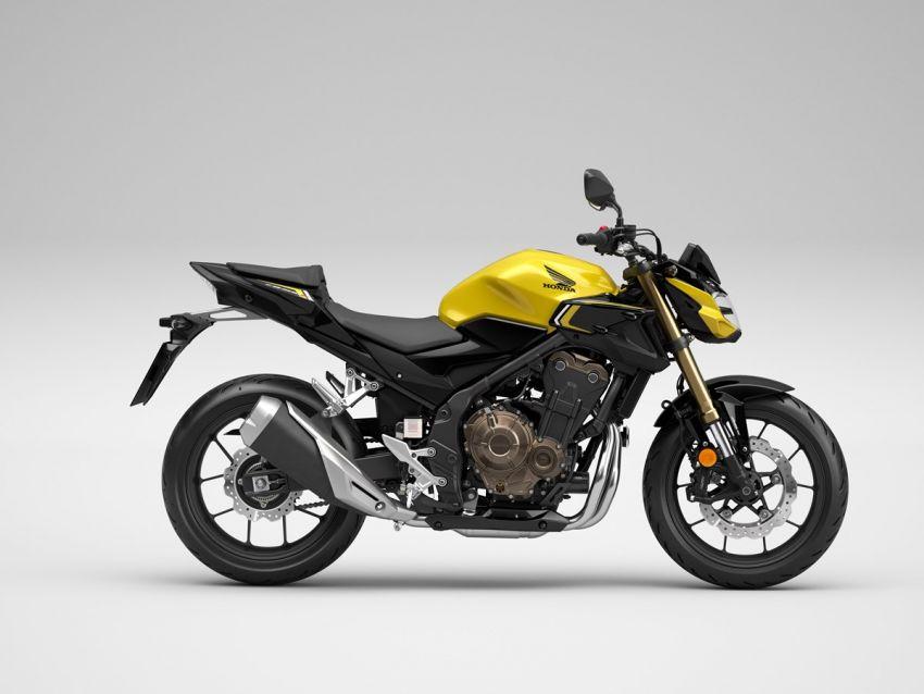 Honda CB500R, CB500F dan CB500X diperbaharui – enjin Euro 5, fork USD Showa, brek cakera berkembar Image #1340531