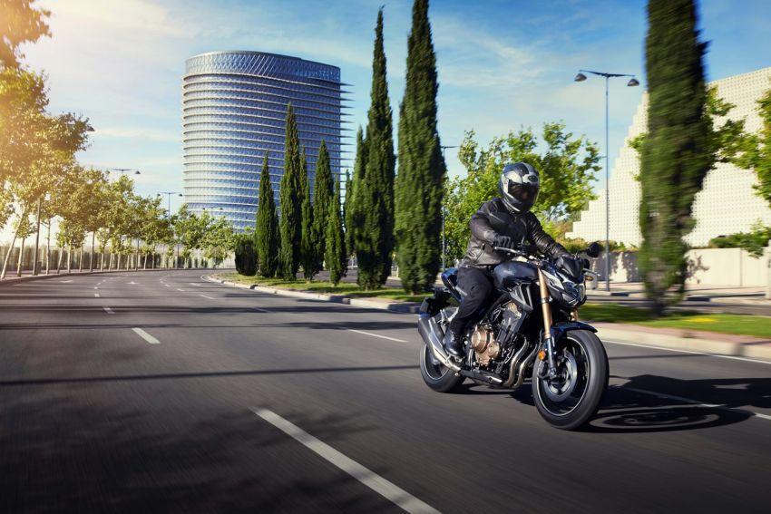 Honda CB500R, CB500F dan CB500X diperbaharui – enjin Euro 5, fork USD Showa, brek cakera berkembar Image #1340489