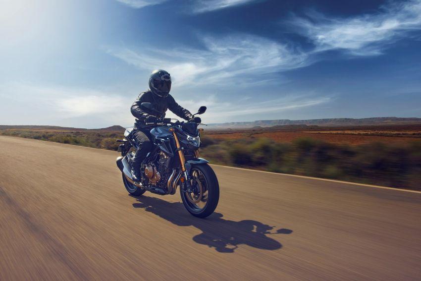 Honda CB500R, CB500F dan CB500X diperbaharui – enjin Euro 5, fork USD Showa, brek cakera berkembar Image #1340490