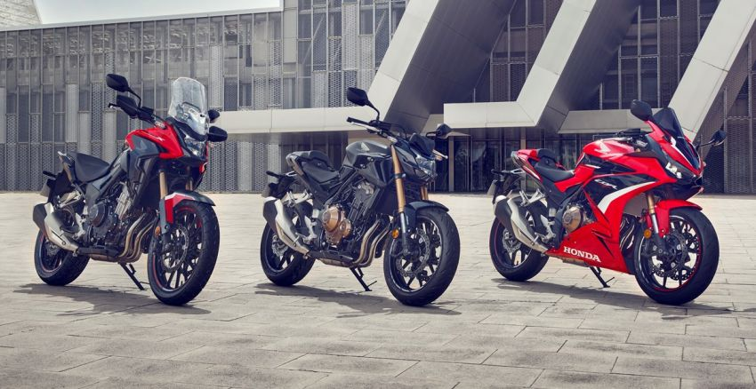 Honda CB500R, CB500F dan CB500X diperbaharui – enjin Euro 5, fork USD Showa, brek cakera berkembar Image #1340624