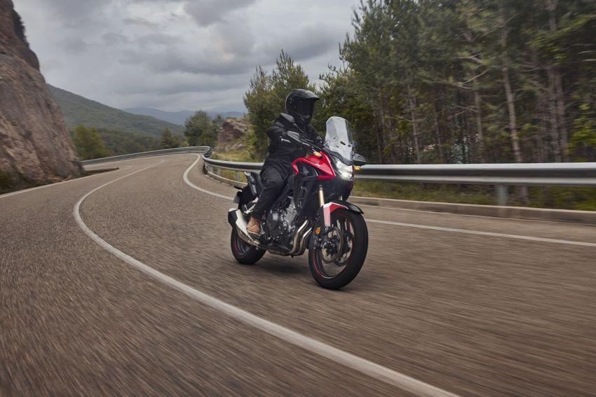 Honda CB500R, CB500F dan CB500X diperbaharui – enjin Euro 5, fork USD Showa, brek cakera berkembar Image #1340566