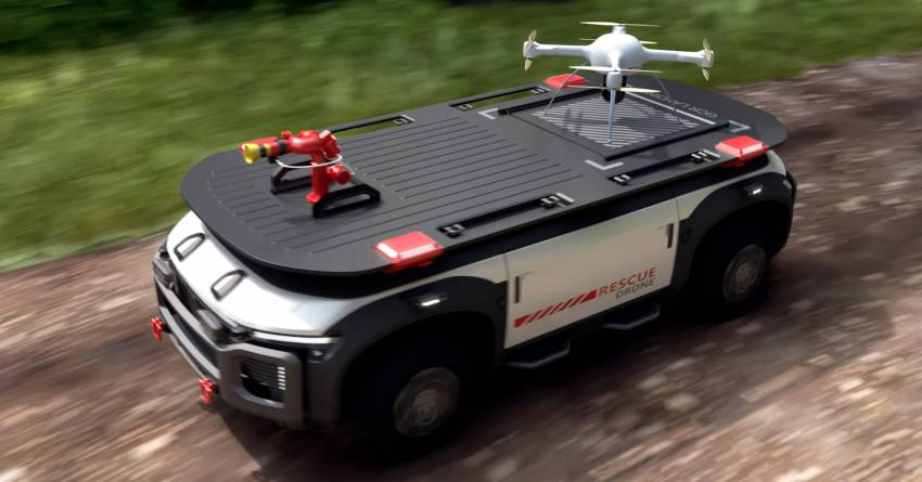 Hyundai Motor Group presents vision to popularise hydrogen by 2040 – Vision FK, Trailer Drone concepts Image #1345820