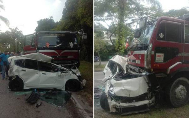 Again! Lorry slams into 7 cars at Sg Buloh traffic lights Image #1344900