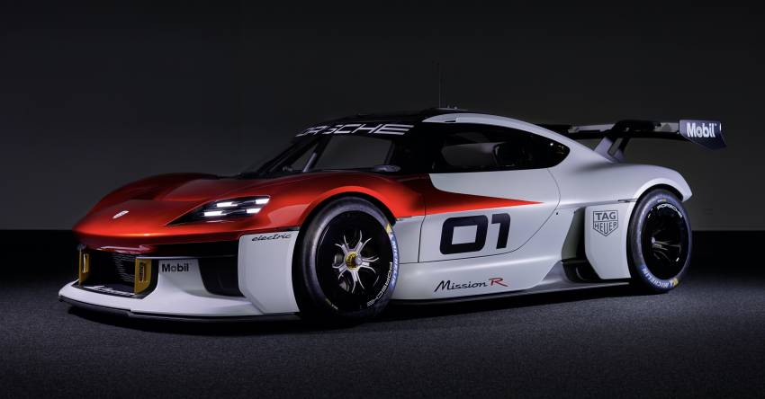 Porsche Mission R – 1,088 PS twin-motor concept with natural fibre bodywork hints at GT racing future Image #1342729