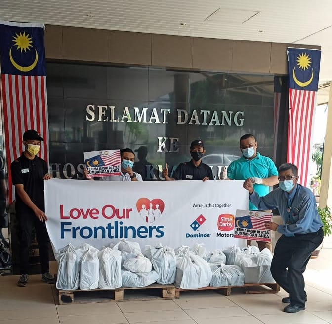Sime Darby Motors and Domino's Pizza partner up to reward frontliners in Malaysia – #LoveOurFrontliners Image #1338267