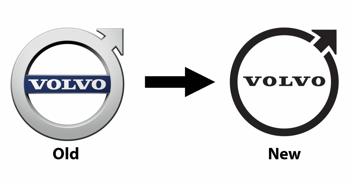 Volvo introduces the new Iron Mark logo: simpler, flatter design; for use  on cars from 2023 onwards