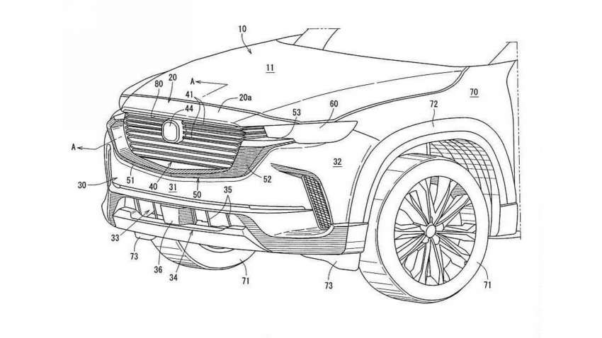 Mazda CX-50 exterior seen in patent filing images Image #1360474