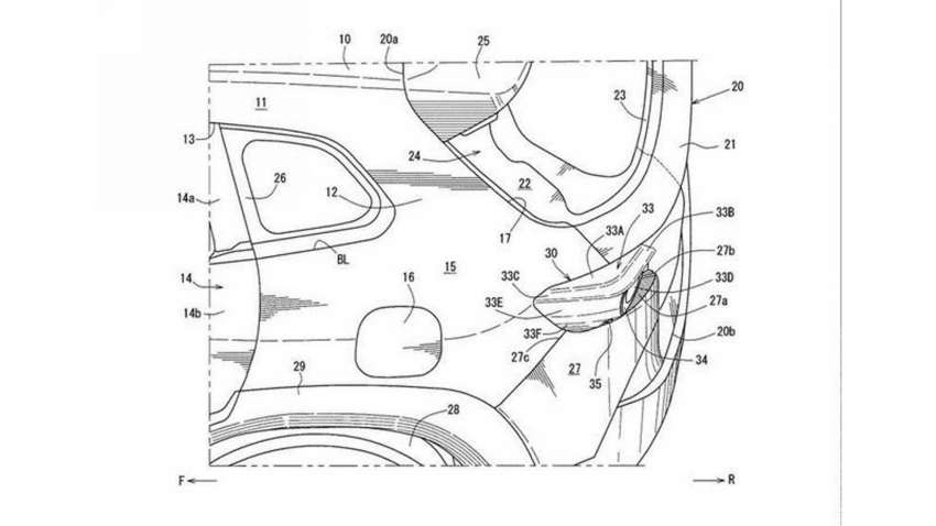 Mazda CX-50 exterior seen in patent filing images Image #1360475
