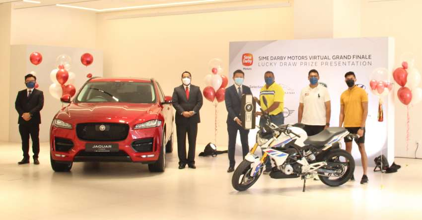Jaguar F-Pace customer wins BMW G310R at Sime Darby Motors Virtual Grand Finale lucky draw Image #1359255