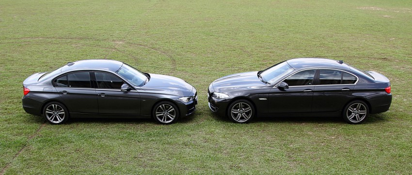 BMW F30 and F10: side by side visual comparison Image #110495