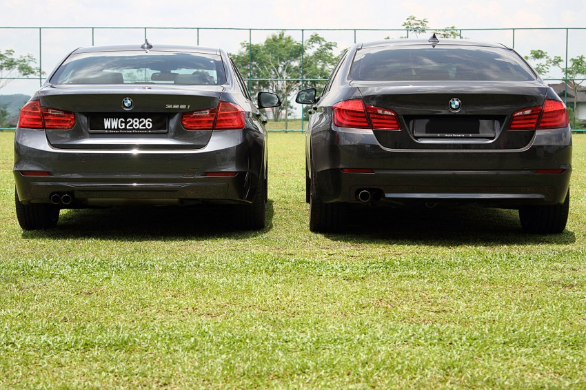 BMW F30 and F10: side by side visual comparison Image #110497