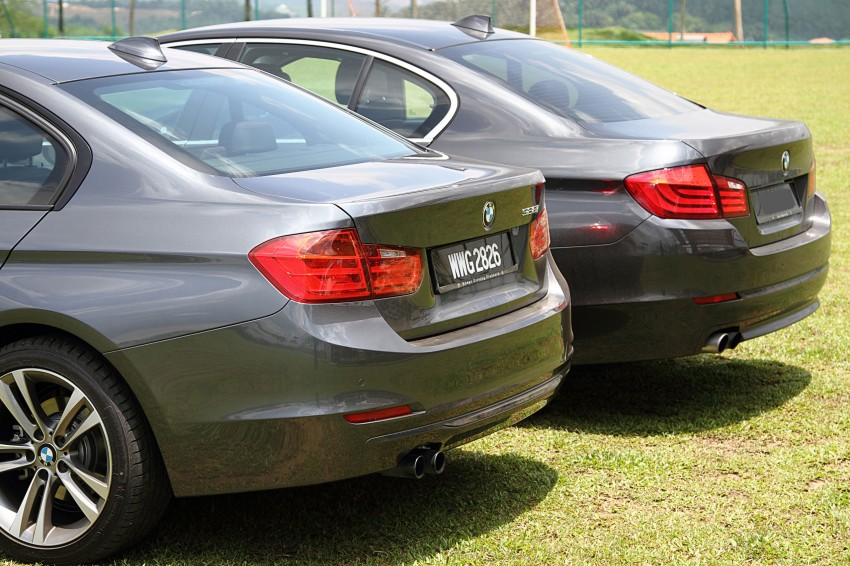 BMW F30 and F10: side by side visual comparison Image #110498