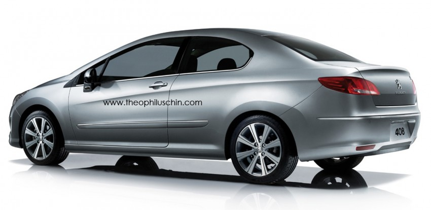 Peugeot 408 Coupe – rendering offers a two-door take Image #114442