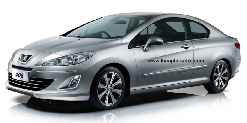 Peugeot 408 Coupe – rendering offers a two-door take Image #114443