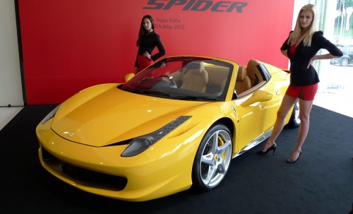 the 458 spider today joined its coupe sister the 458 italia in the local ferrari lineup and rolls in at a starting baseline price of rm19 million - Ferrari Italia Convertible