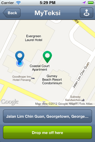 MyTeksi: book a taxi in Malaysia using an app Image #110536