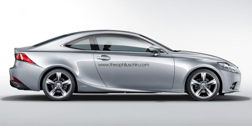 Lexus IS Coupe – rendering of the third-gen two-door Image #152314