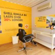 A barber will be on hand to give free hair-cuts to truck drivers inside the Shell Rimula Hardworking Truck